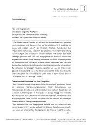 Page 1 Pressemitteilung Foto- und Imagingmarkt Innovationen ...