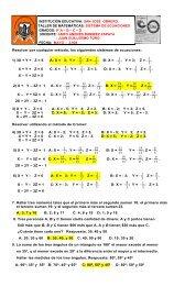 san jose obrero. taller de matemáticas: sistema de ecuaciones ...