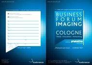 photokina zu einer Abendveranstaltung - Business Forum Imaging