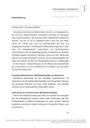 Page 1 Pressemitteilung photokina 2012 - Die ersten Highlights ...