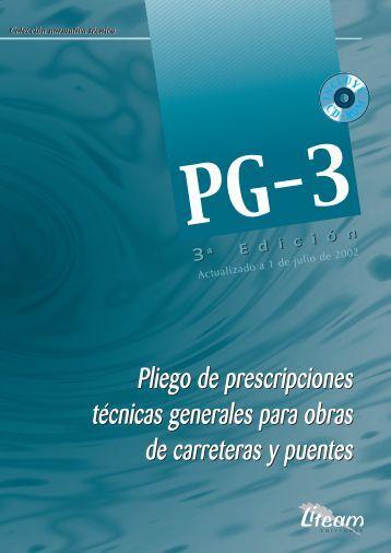 Pliego de prescripciones técnicas generales para obras de ...