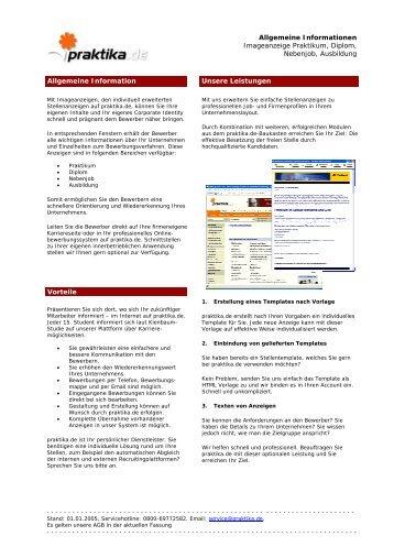 Servicelizenz ''XXXXXXXXXXX'' - Praktika.de