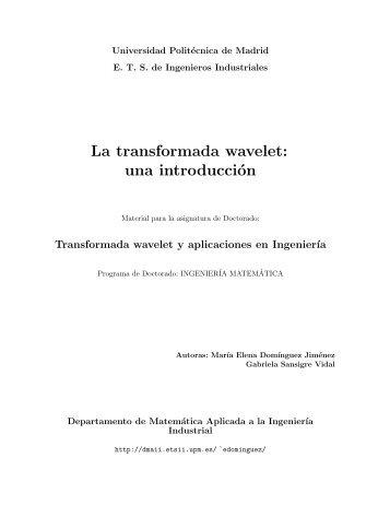 La transformada wavelet: una introducción - Departamento de ...
