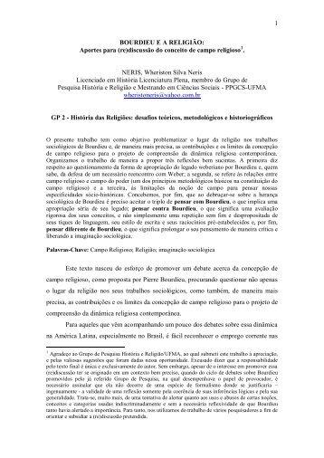 Bourdieu e a Religião - ABHR