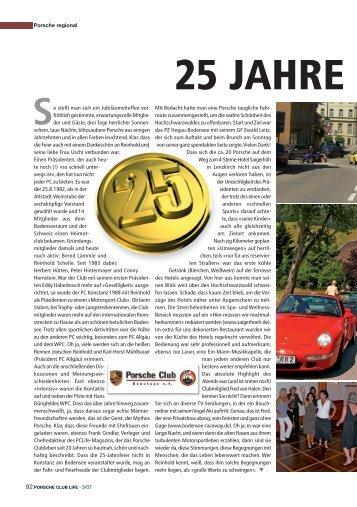 25 Jahre PC Konstanz - Porsche Club Deutschland