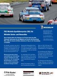 PSC Michelin Reifen - Porsche Club Deutschland