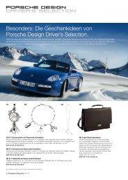 Die Geschenkideen von Porsche Design Driver's Selection.
