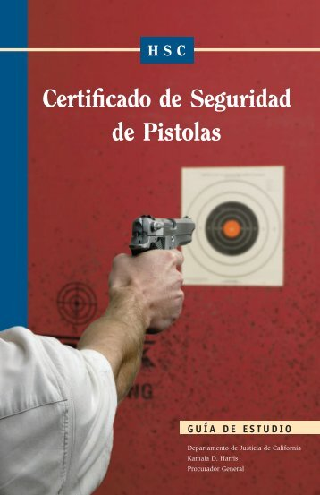 Certificado de seguridad de pistolas
