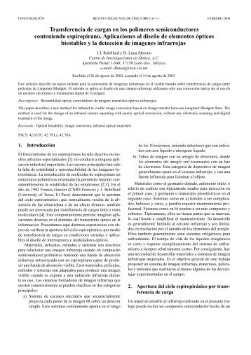 Transferencia de cargas en los polimeros semiconductores - E-journal
