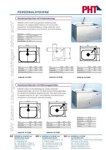 Handwaschbecken / Händetrockner / Papierspender - PHT