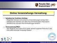 Anleitung zur online-Buchung - Porsche Club CMS