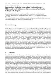 Laseroptische Methoden basierend auf der ... - Fakultät für Physik