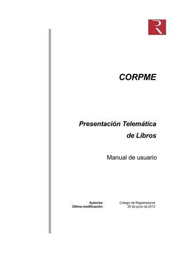 Manual de ayuda de Presentación telemática de libros