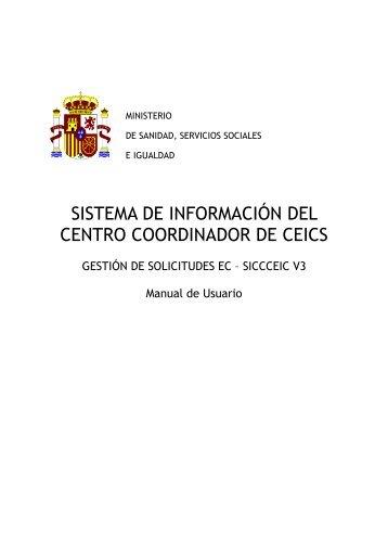Manual de Usuario - Ministerio de Sanidad y Política Social