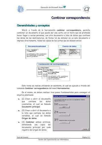 Combinar correspondencia - Anep