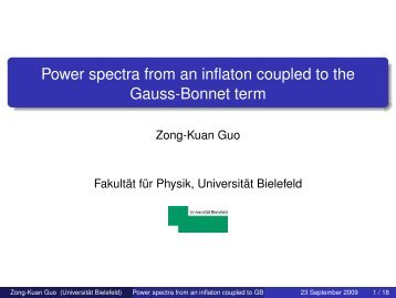 Power spectra from an inflaton coupled to the Gauss-Bonnet term