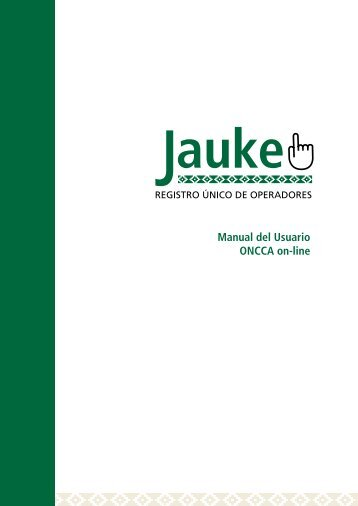 Manual del Usuario ONCCA on-line