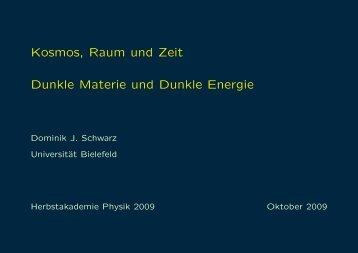 Dunkle Materie und Dunkle Energie - Universität Bielefeld