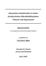 Theorie und Experiment Diplomarbeit Christian Weß - Fakultät für ...