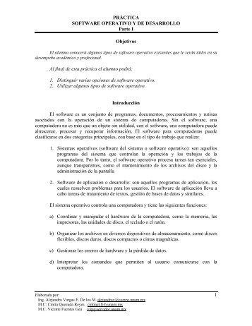 Práctica 3: Software operativo y de desarrollo, parte 1