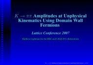K → ππ Amplitudes at Unphysical Kinematics Using ... - Physik