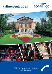 KulturEvents 2013.indd - Poppe Reisen