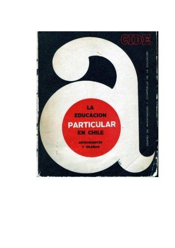 La educación particular en Chile - Biblioteca UAH