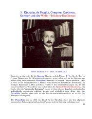 3. Einstein, de Broglie, Compton, Davisson, Germer und der Welle ...