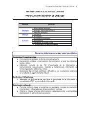 PROGRAMACIÓN DIDÁCTICA DE UNIDADES - Educatrachos