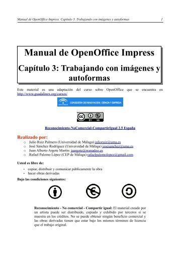 Trabajando con imágenes y autoformas - Universidad de Málaga