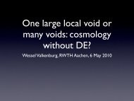 One large local void or many voids: cosmology without DE?