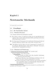 Kapitel 1: Newtonsche Mechanik (PDF, 0.84 MB) - Universität Bielefeld