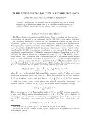 ON THE MONGE–AMP`ERE EQUATION IN INFINITE DIMENSIONS ...