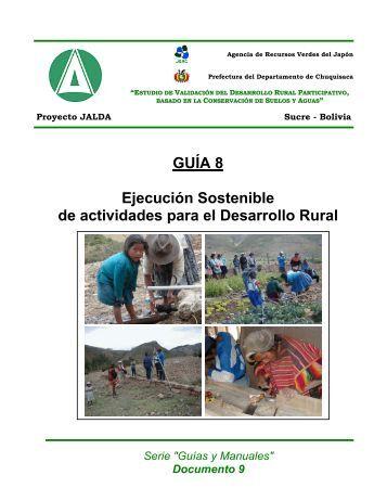 GUÍA 8 Ejecución Sostenible de actividades para el Desarrollo Rural