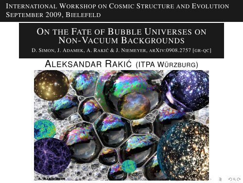 On the Fate of Bubble Universes on Non-Vacuum Backgrounds D ...