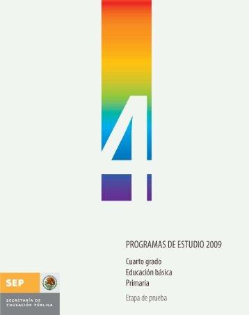 Programa de Estudio 2009 Cuarto grado - Sepdf.gob.mx