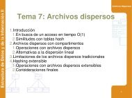 Tema 7: Archivos dispersos