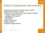Tema 5: Indexación de archivos