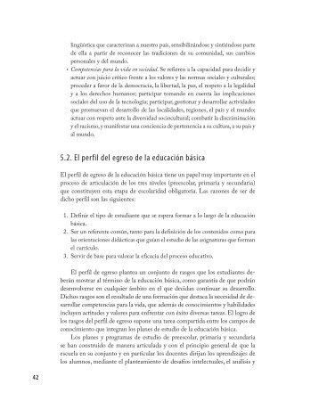 5.2. El perfil del egreso de la educación básica - Santillana