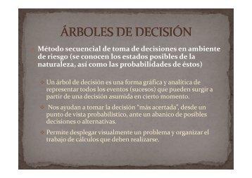 Método secuencial de toma de decisiones en ambiente de riesgo ...