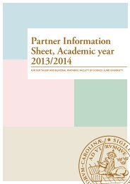 Partner Information Sheet, Academic year 2013/2014