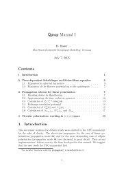 Qprop Manual I - Institut für Physik