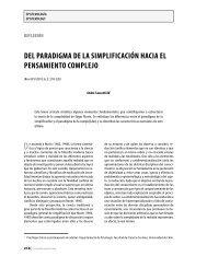 Del paraDigma De la simplificación hacia el pensamiento complejo
