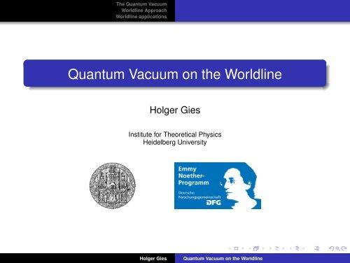 Quantum Vacuum on the Worldline
