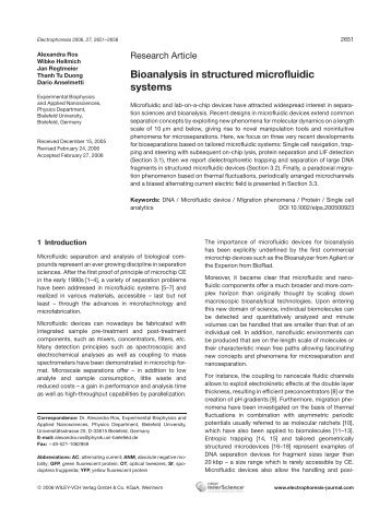 Bioanalysis in structured microfluidic systems