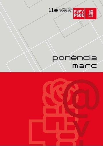 Ponencia marco (castellano) - Partit Socialista del País Valencià