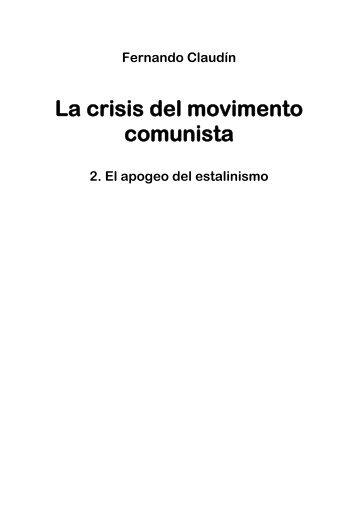 La crisis del movimento comunista - Marxistarkiv