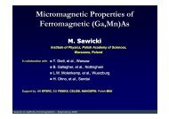 Micromagnetic Properties of Ferromagnetic (Ga,Mn)As ... - Physik