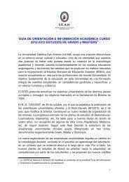 Guía de información académica 2012/2013 - Universidad Católica ...