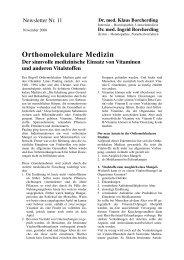 Orthomolekulare Medizin - Praxis Dres. Borcherding